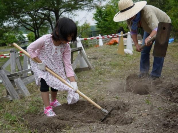畑プロジェクト 5月9日の様子